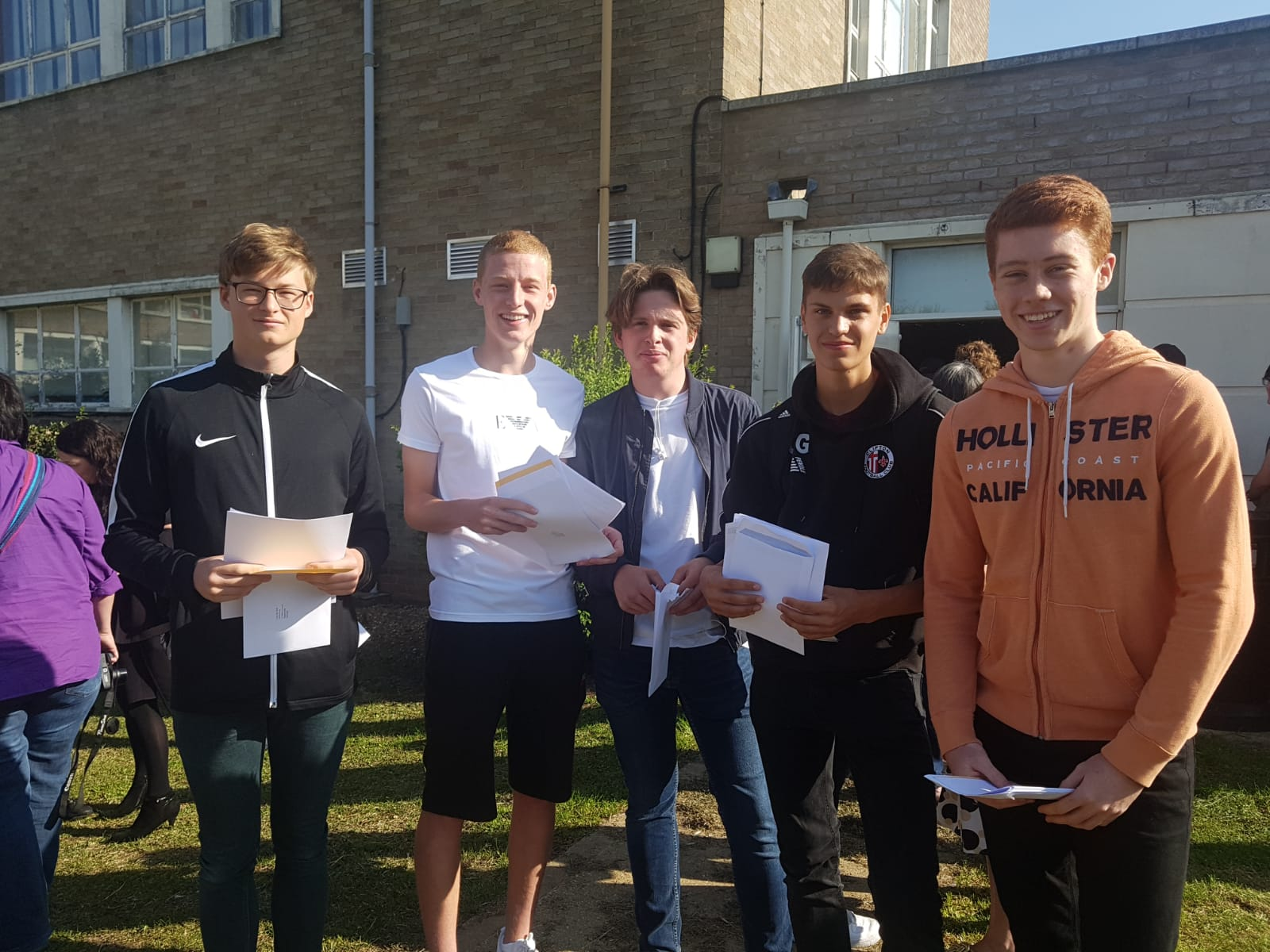 Hard working students at Stratton Upper School receive GCSE results to be proud of
